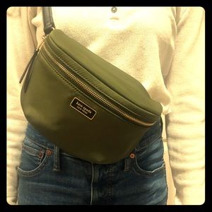 KATE SPADE Dawn Nylon Fanny Pack Olive Green Color